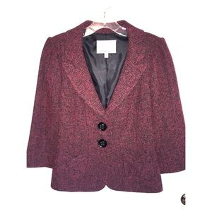 Classiques Entier heathered red jacket, size M